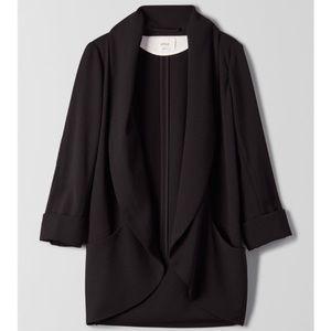 ARITZIA Wilfred Chevalier Black Draped Blazer 8